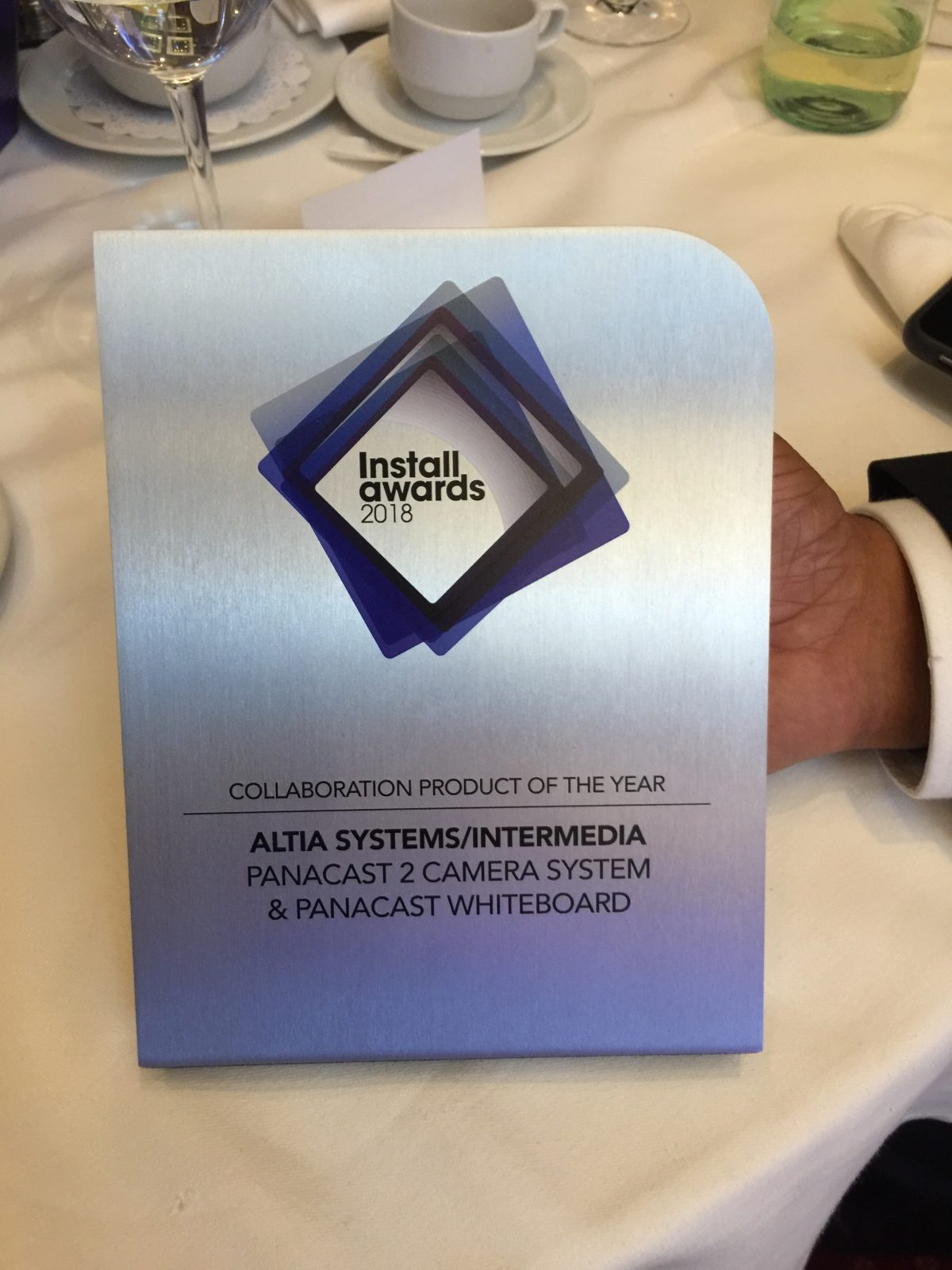 We won the Collaboration Product of the Year award at Install Awards UK 2018