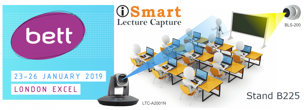 AI Auto-Tracking Lecture Capture Camera at BETT 2019