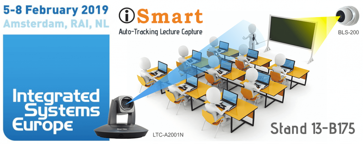 AI Auto-Tracking Lecture Capture Camera at ISE 2019